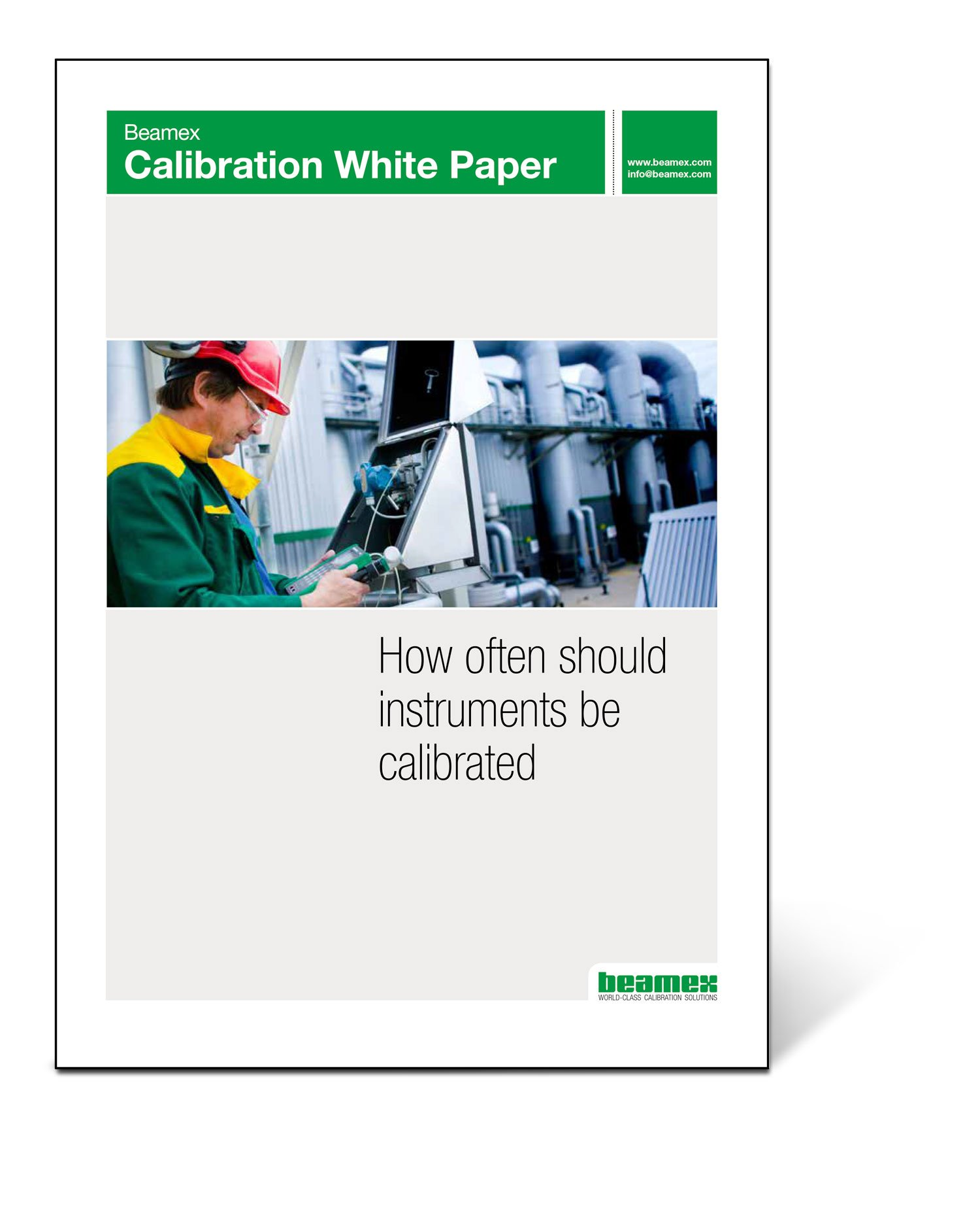 Beamex Calibration White Paper - How often should instruments be calibrated?