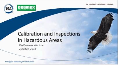 Calibration in Hazardous areas - ISA webinar