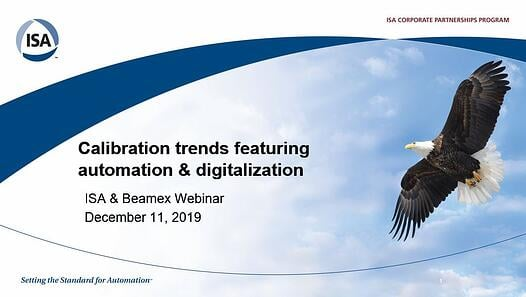 Calibration trends webinar